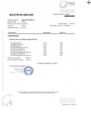 CBD 1g jelly lab report