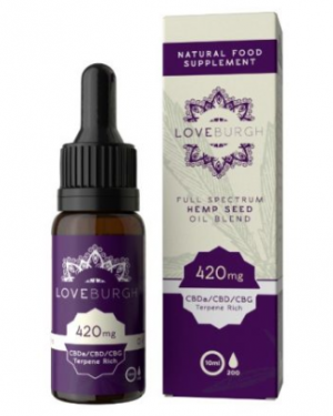 Loveburgh 420mg Hemp Seed CBD Oil 10ml